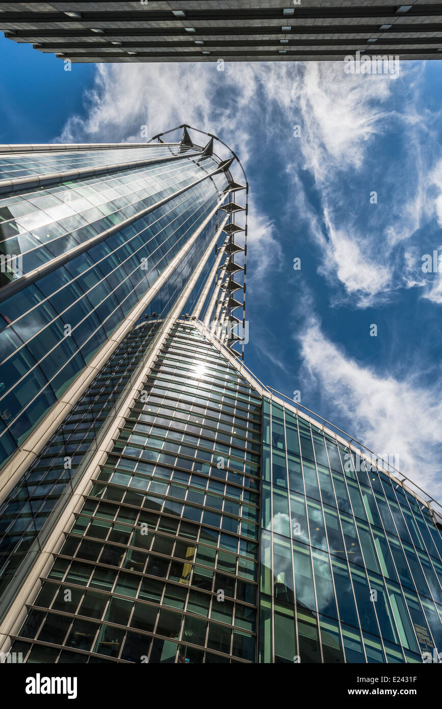 Upward view of the CityPoint skyscraper in  the City of London, UK - Stock Image