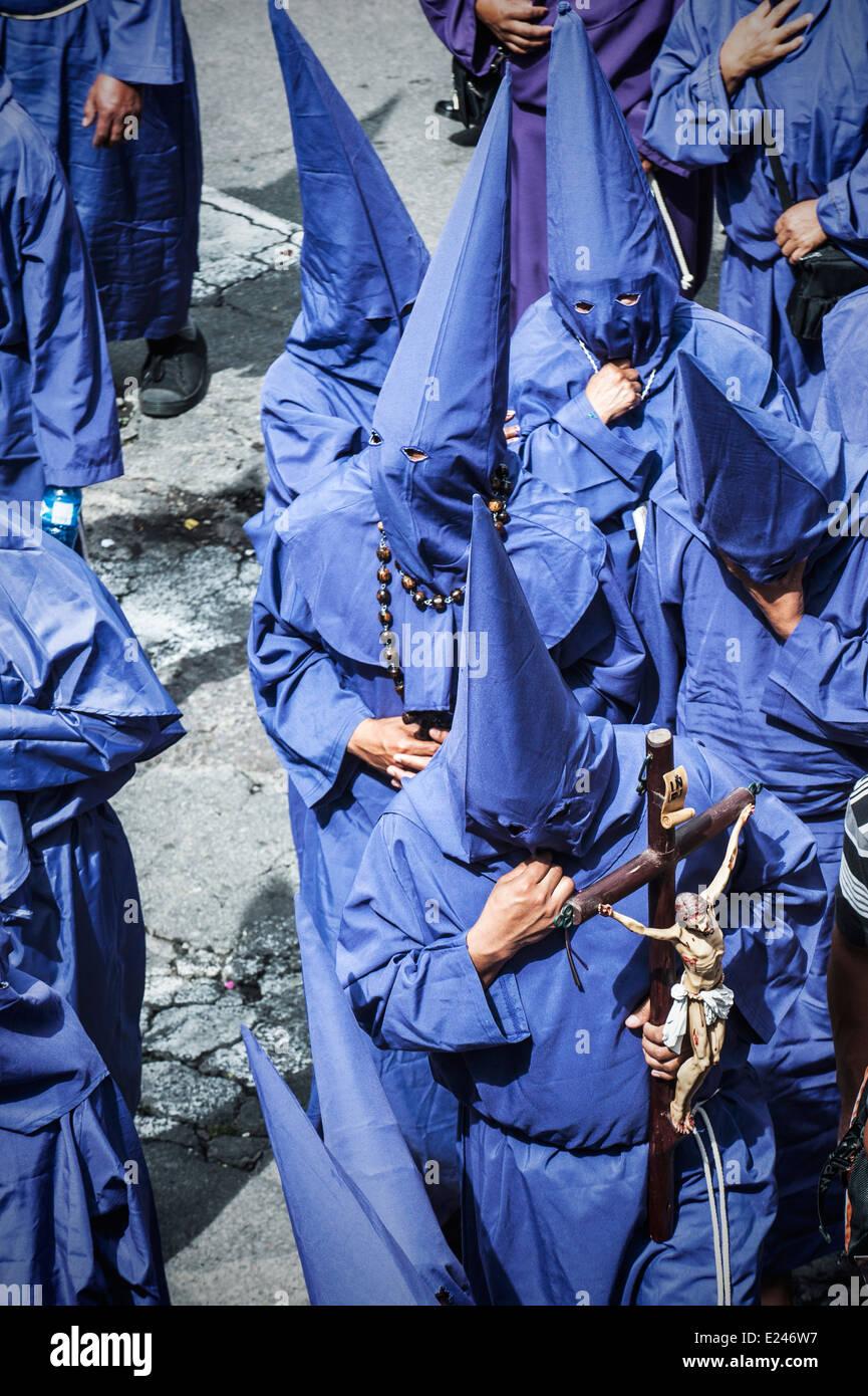 Catholic procession on Good Friday in Quito, Ecuador - Stock Image