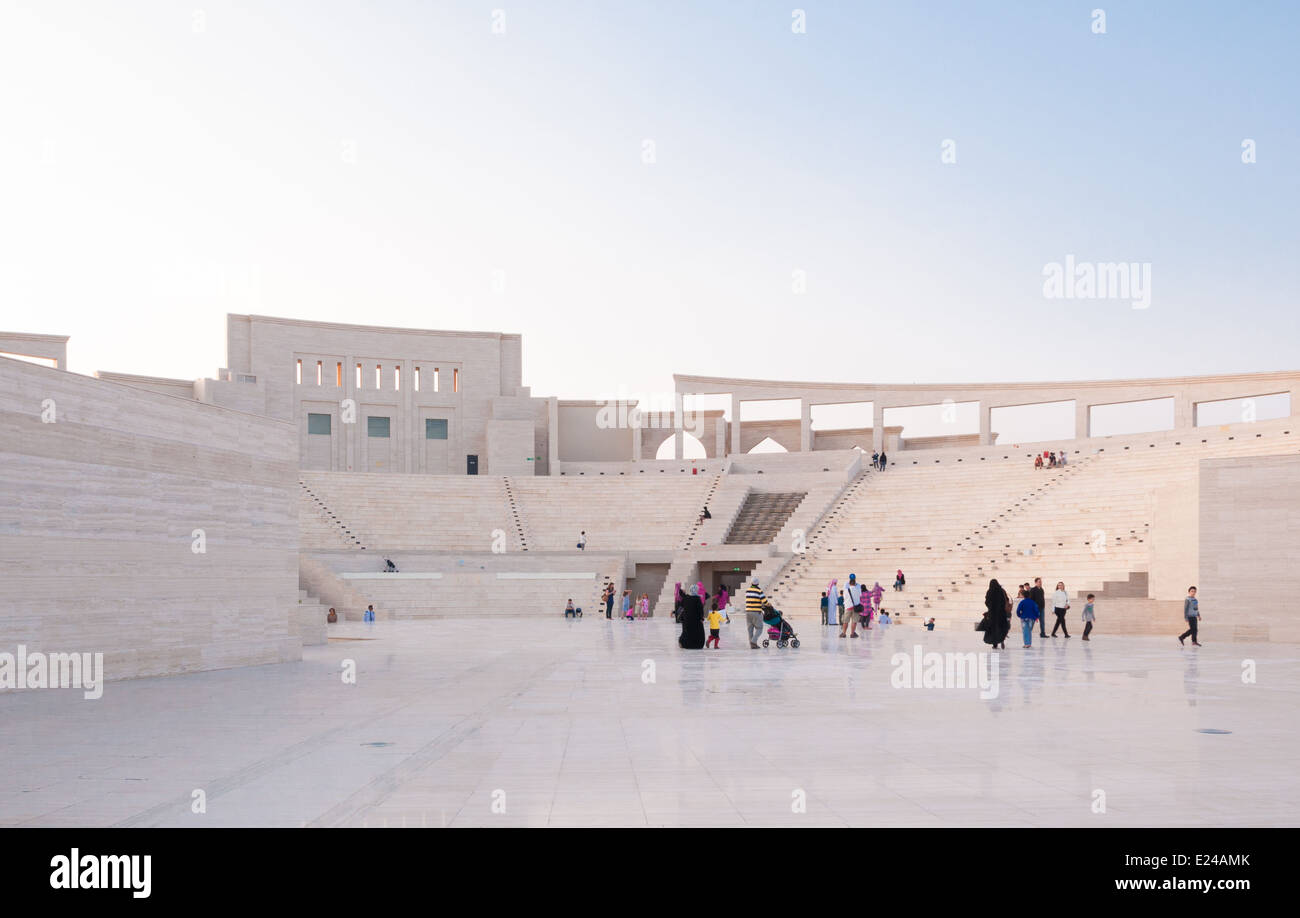 The Katara Amphitheater in Doha, Qatar Stock Photo