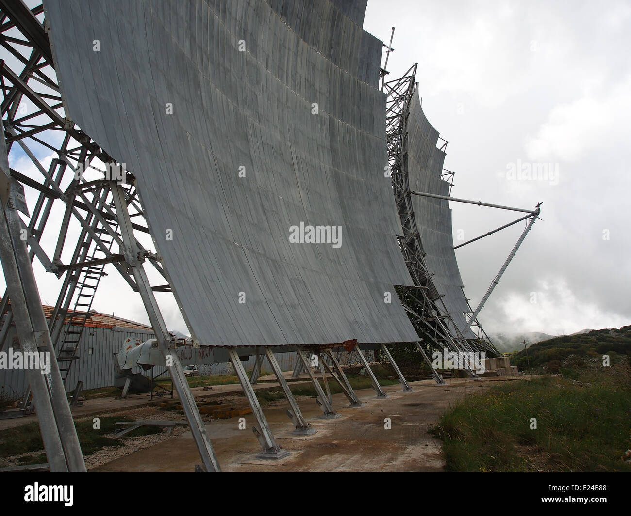 Radio Relay Station Former USAF microwave relay station ACE-High system at Lefkada, Greece, photo 4 - Stock Image