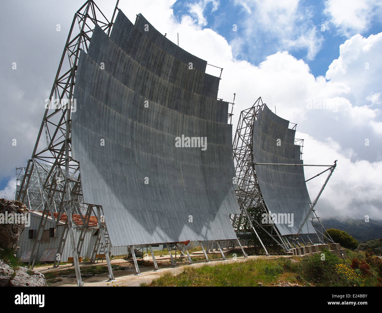 Radio Relay Station Former USAF microwave relay station ACE-High system at Lefkada, Greece, photo 6 - Stock Image