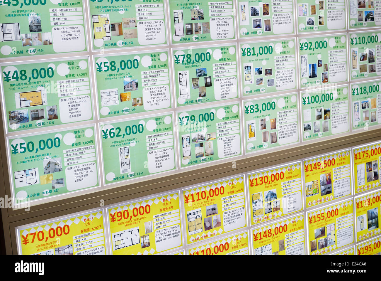 Tokyo Real Estate Property Listings With Prices Japan Stock Photo Alamy