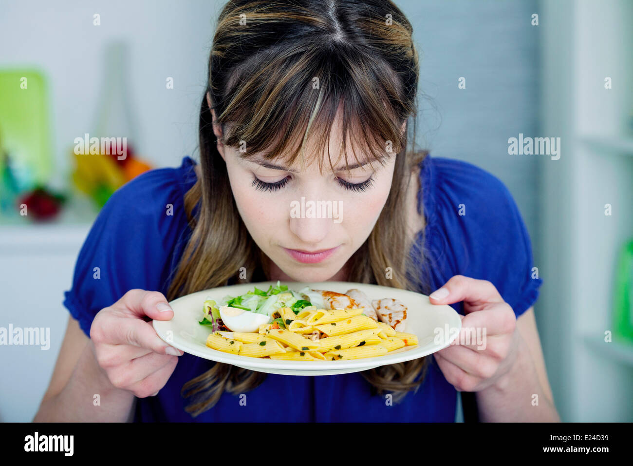 Woman with a meal - Stock Image