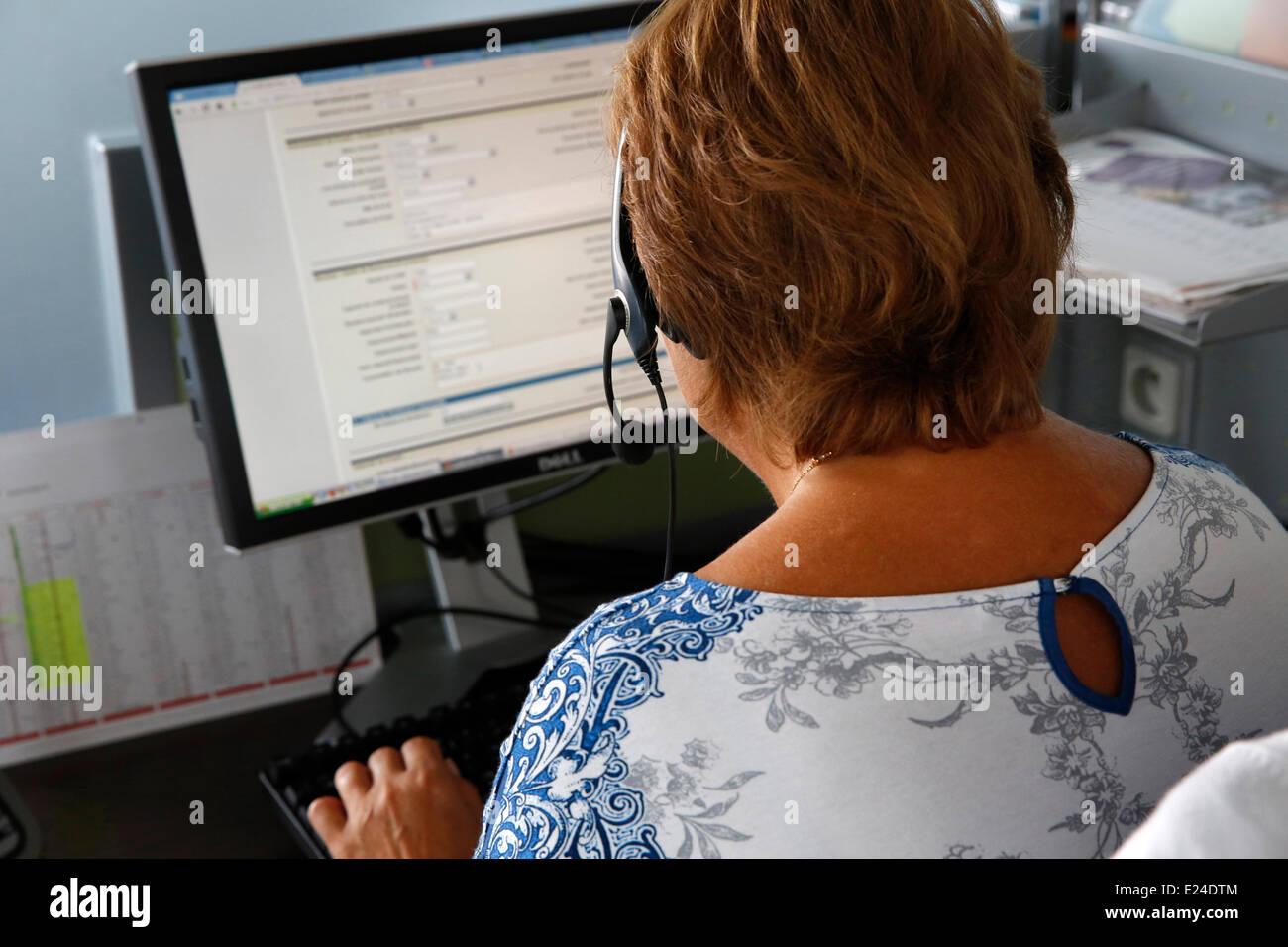 Call center - Stock Image