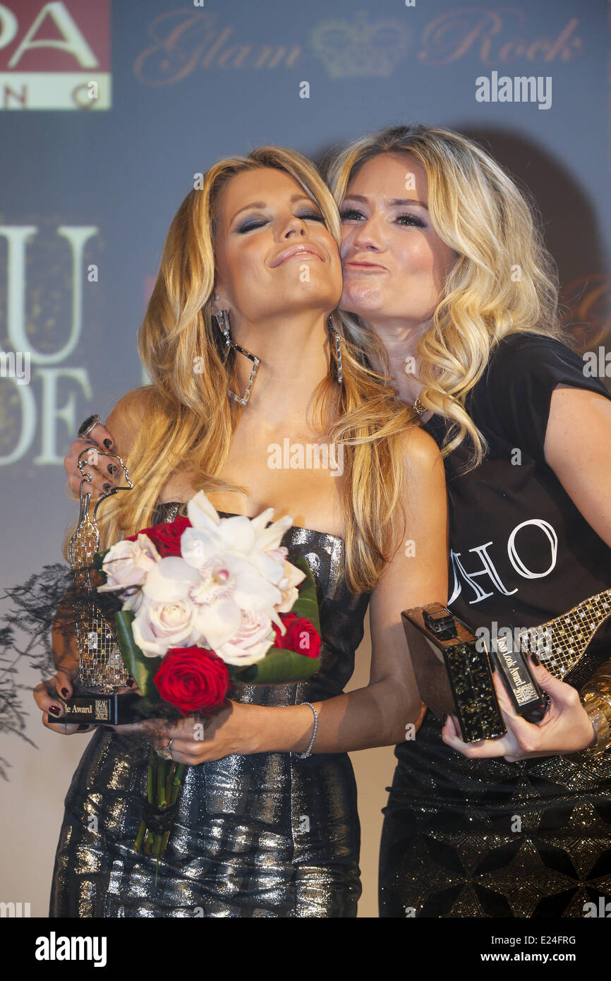 file photo Sylvie van der Vaart and Nikkie Plessen at Beau Monde Awards. There are rumors that a affair between - Stock Image