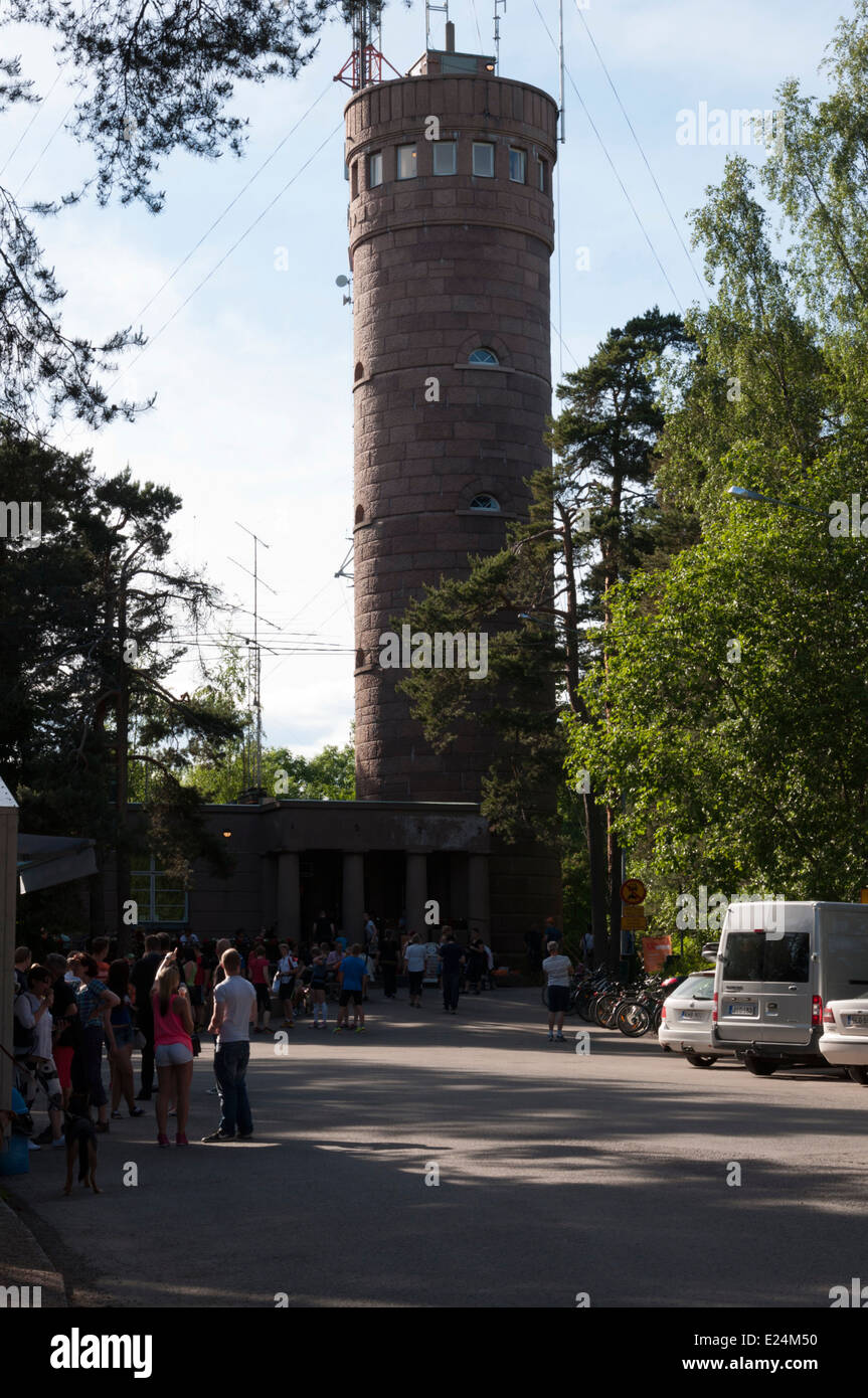 Pyynikki observation tower built in 1929 on the highest point in Tampere - Stock Image