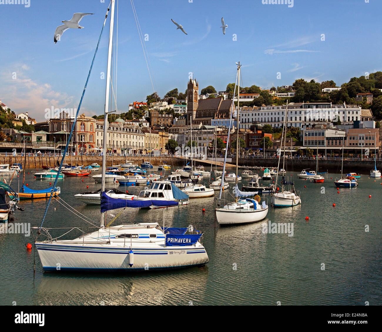 GB - DEVON: Torquay Harbour and Town Stock Photo