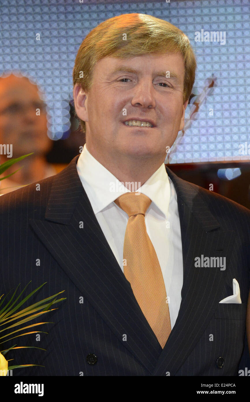 King Willem-Alexander of the Netherlands visting the Kingdom concert at the Circus Theatre in Scheveningen.  Featuring: Stock Photo