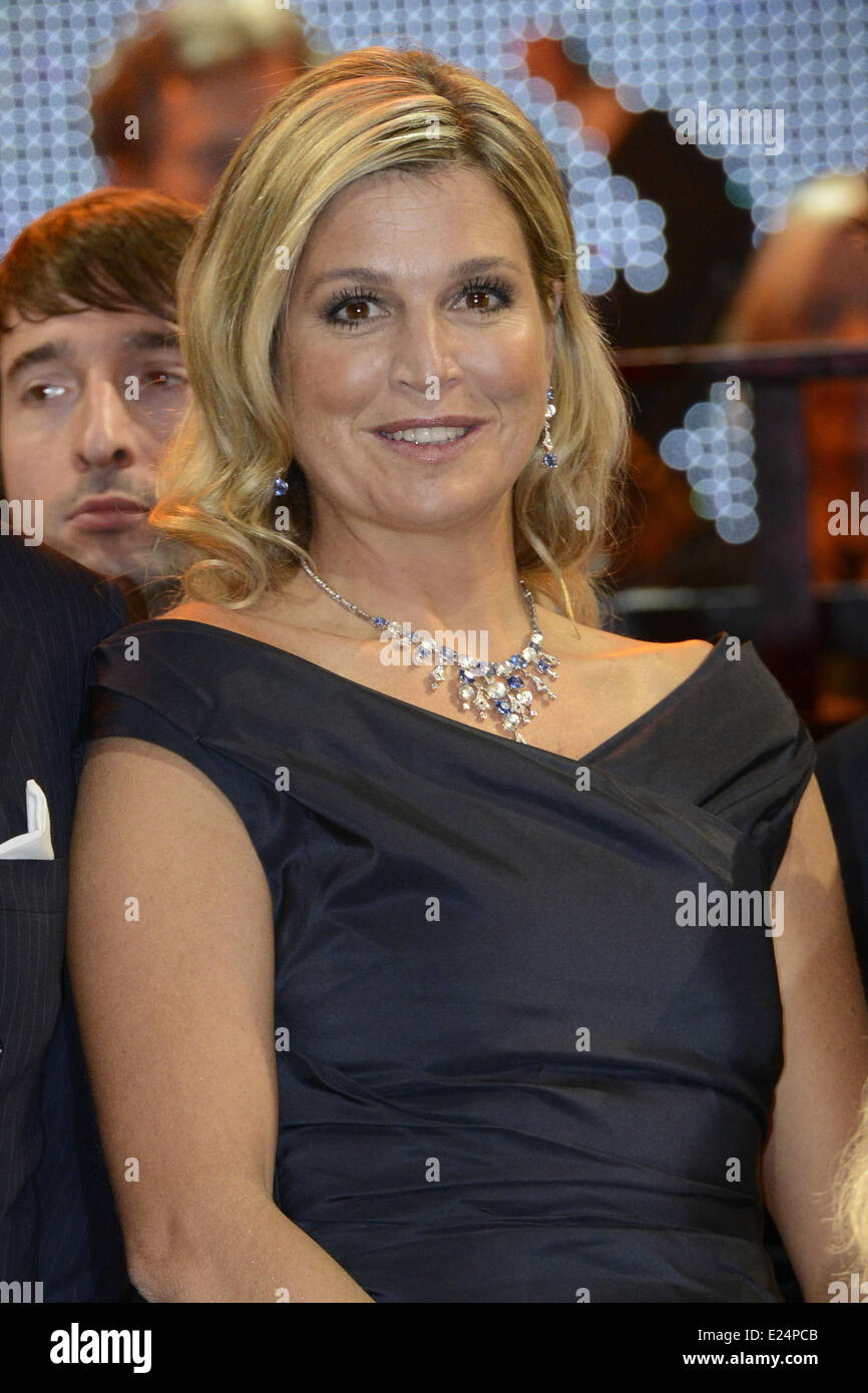 Queen Maxima of the Netherlands visting the Kingdom concert at the Circus Theatre in Scheveningen.  Featuring: Queen Stock Photo