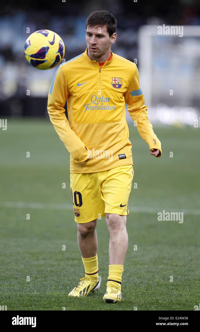 FC Barcelona vs. Real Sociedad La Liga match at the Anoeta Stadium  Featuring: Lionel Messi Where: San Sebastian, Stock Photo