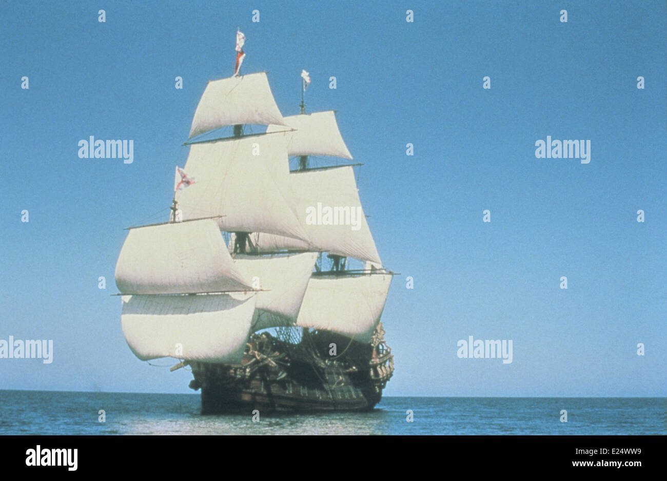 Movie still from  ''Pirates'' (1986). Directed by Roman Polanski.  Featuring: Pirate Ship,Gallion - Stock Image