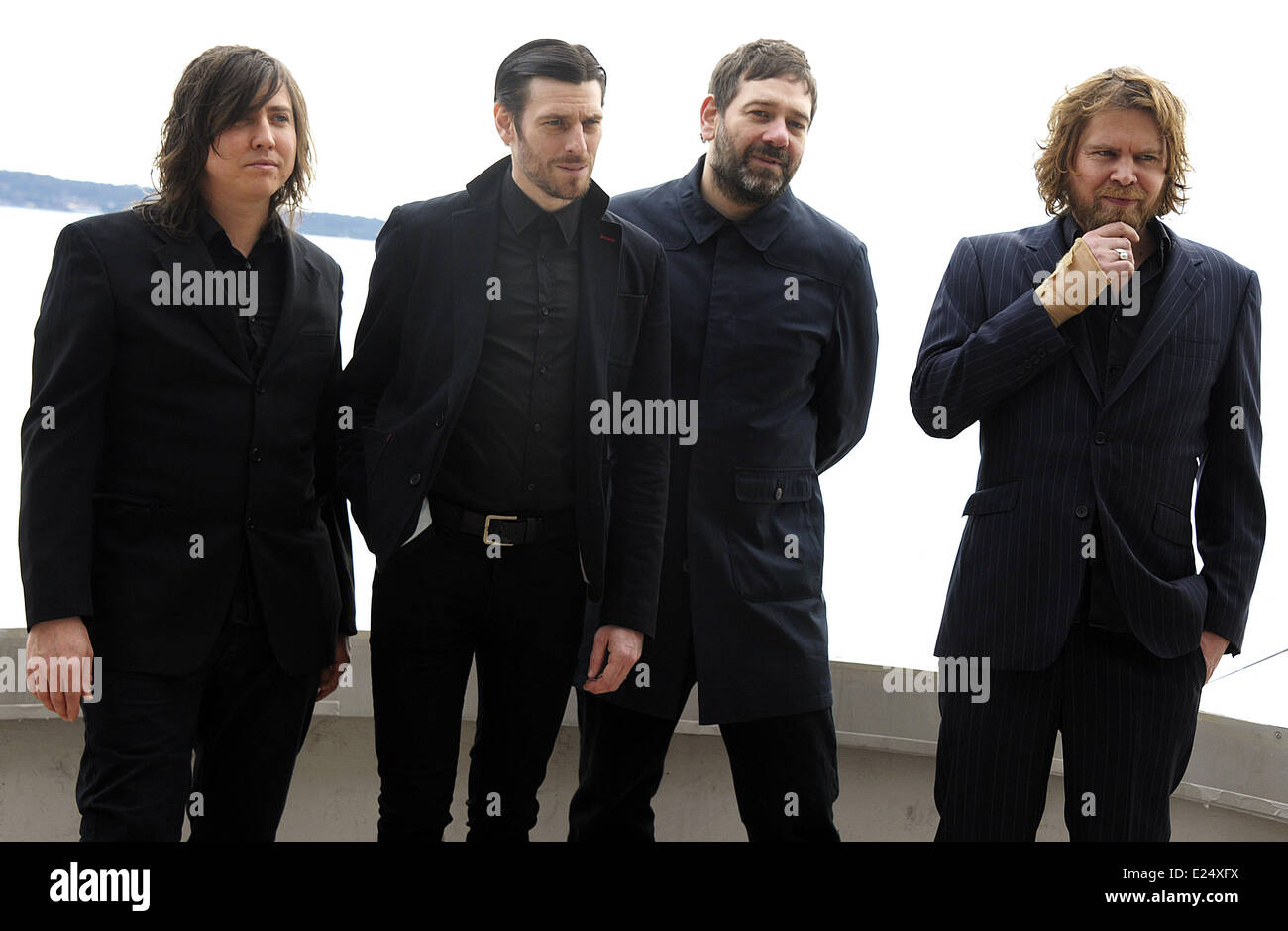 English Band Archive Attend A Photo Call During The Midem Festival 2013 Featuring Archive Where Cannes France When