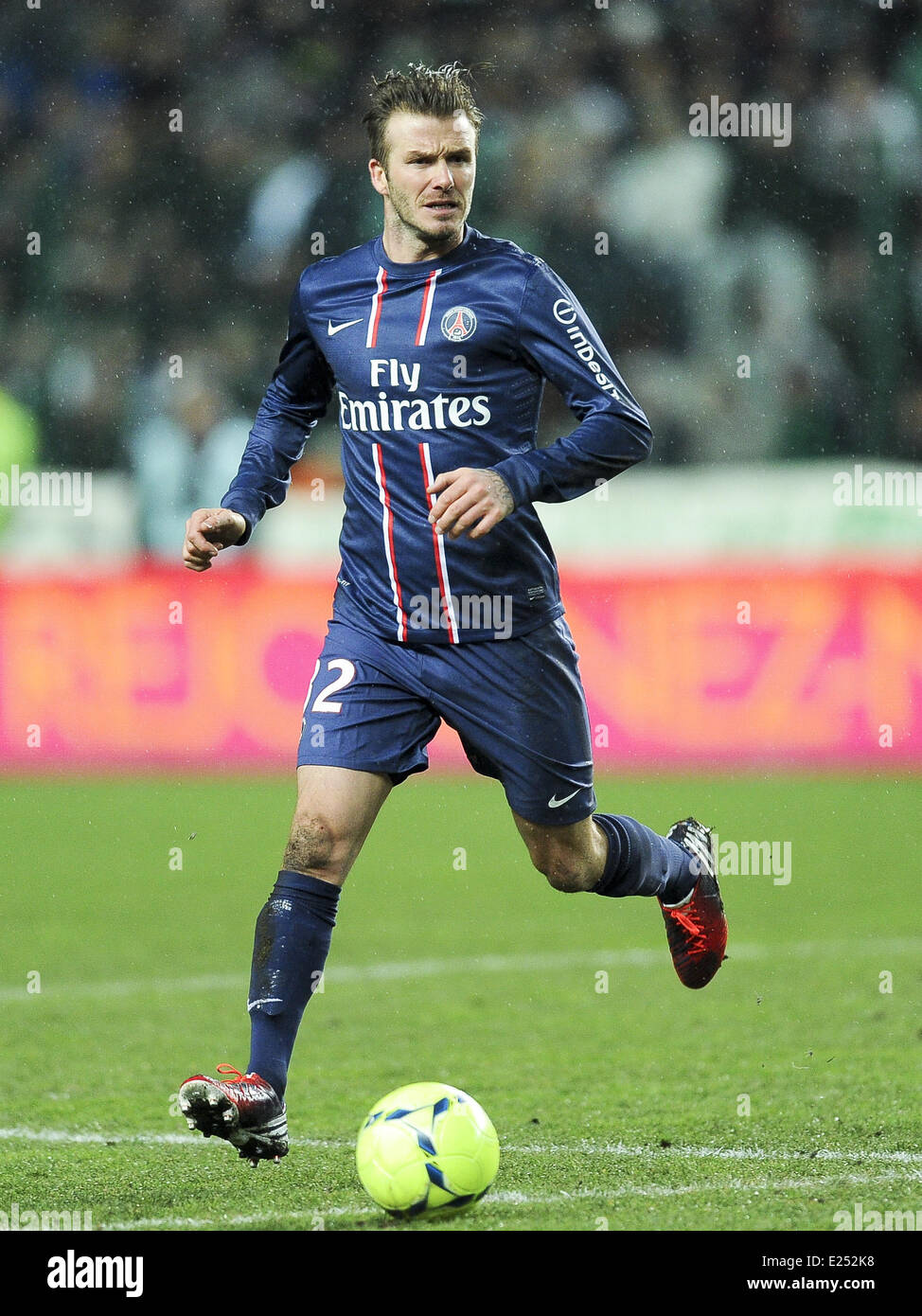 c89a05700 Paris Saint-Germain (PSG) vs. Saint-Etienne at Stade Geoffroy-Guichard  Featuring: David Beckham Where: St Etienne, France When: 17 Mar 2013