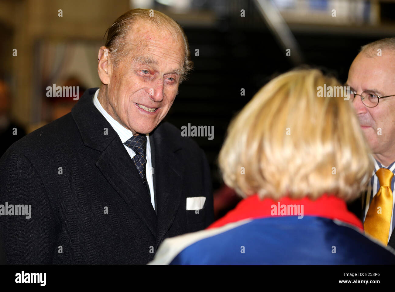 Members of the Royal Family visit Baker Street tube station to mark the 150th anniversary of the London Underground - Stock Image