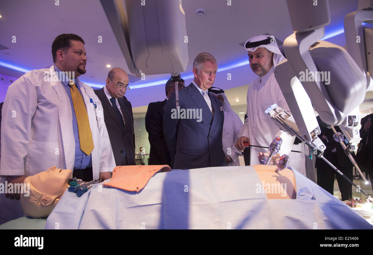 Charles, Prince of Wales visits the Qatar Science and Technology