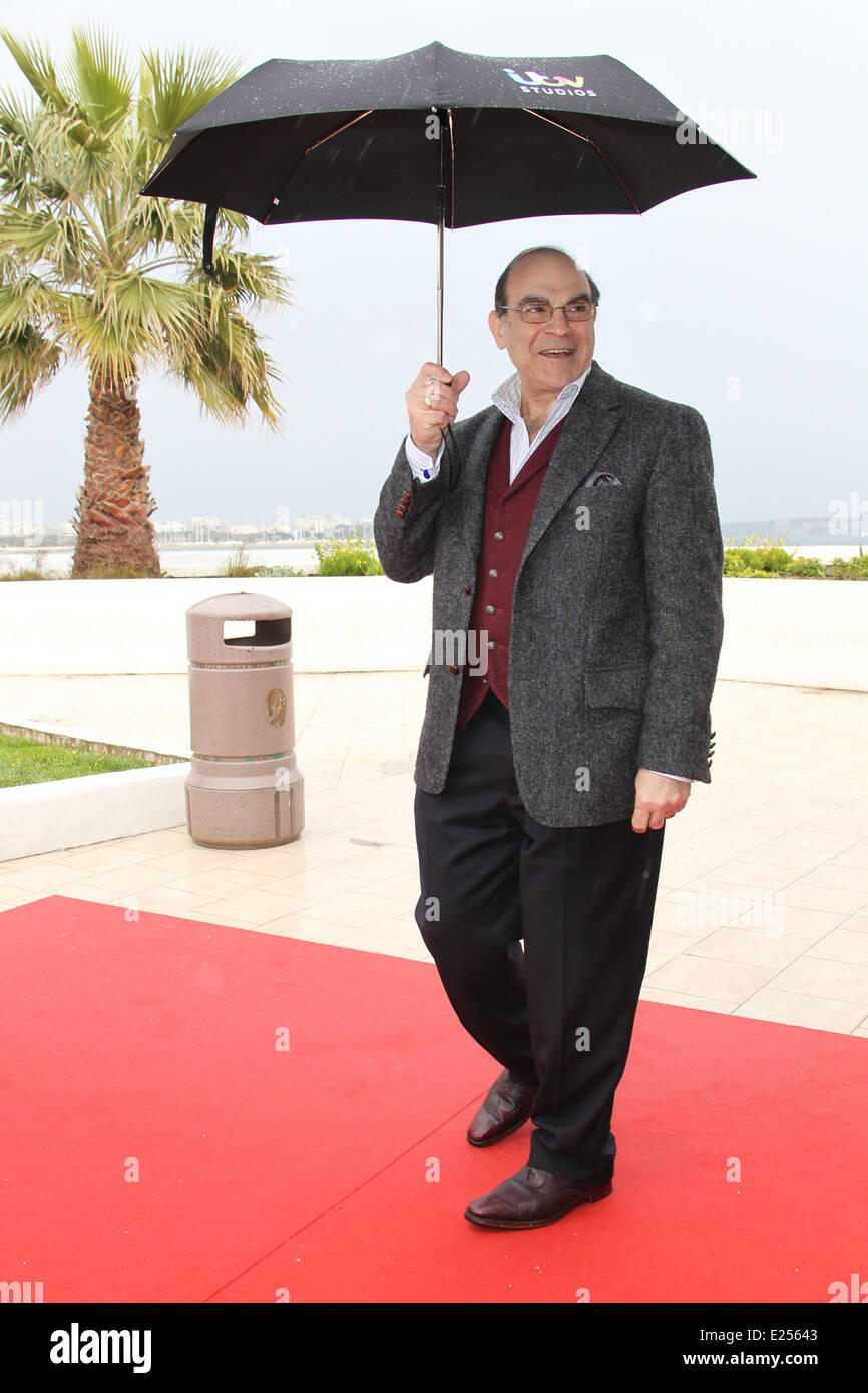 MIPTV 2013 - 'Poirot' photocall in Cannes  Featuring: David Suchet Where: Cannes, United Kingdom When: 08 - Stock Image