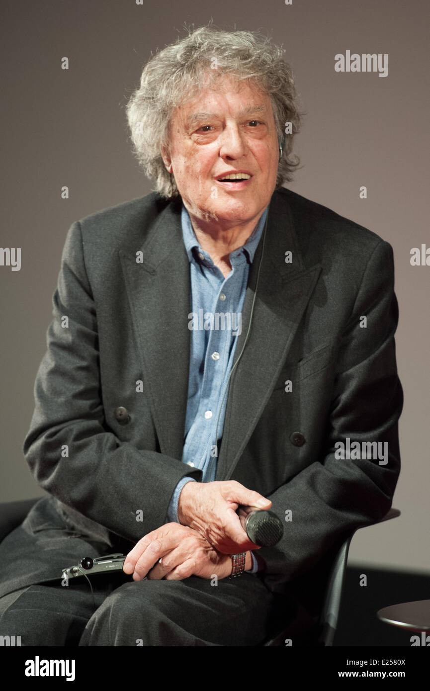 Tom Stoppard give a master class at the Forum des Images in Paris, after the screening of the two first episodes Stock Photo