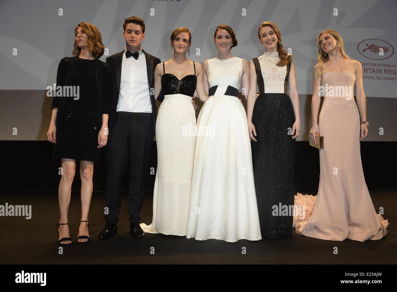 Claire Julien, Taissa Farmiga, katie Chang, Isrtael Broussard, Emma Watson and Sofia Coppola. 'Jeune et Jolie' - Stock Image