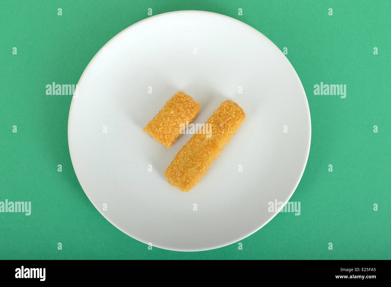 Ons And A Half Fish Fingers Providing 100 Calories Stock Image