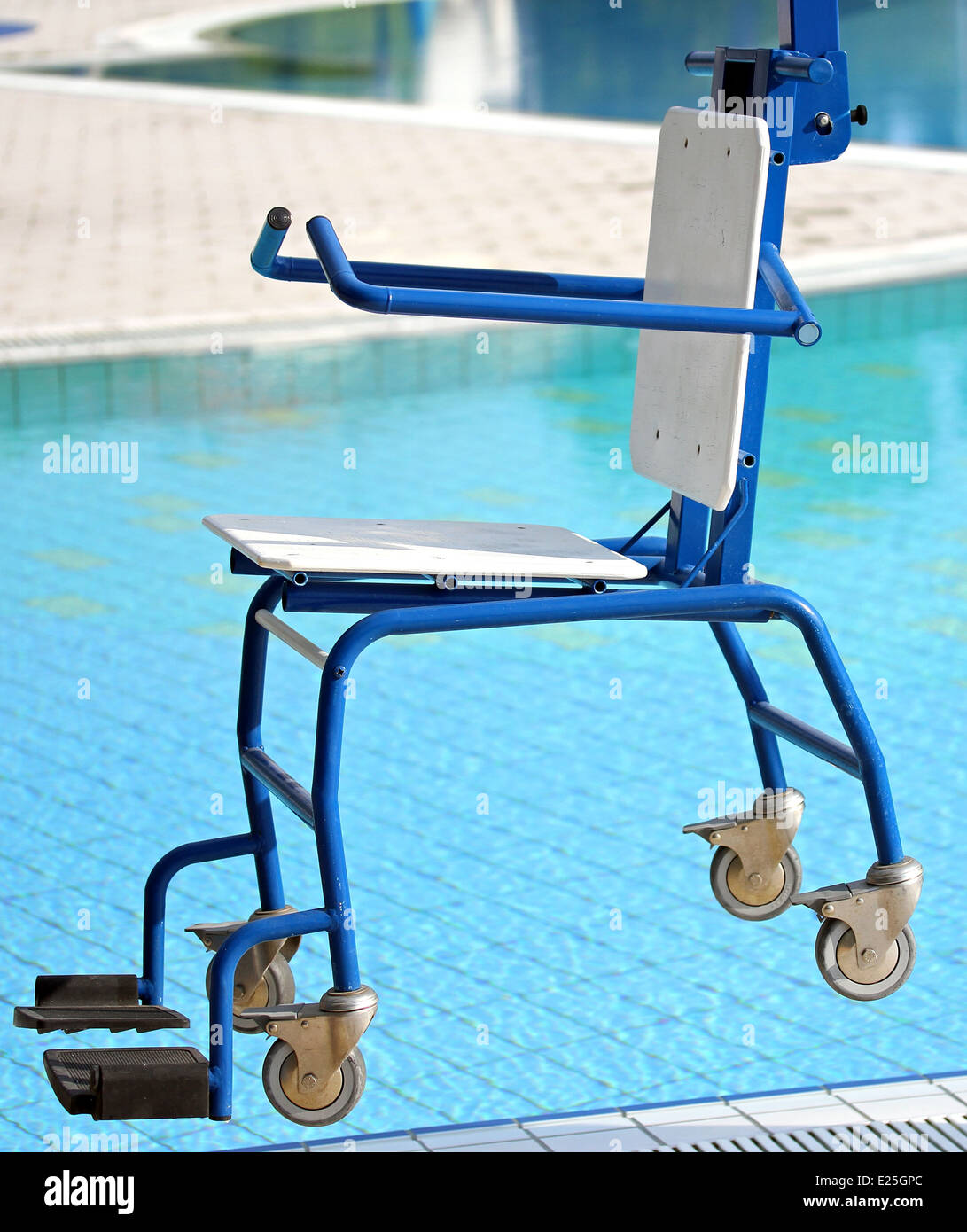 blu Chair for disabled people to make use of the pool for the Stock ...
