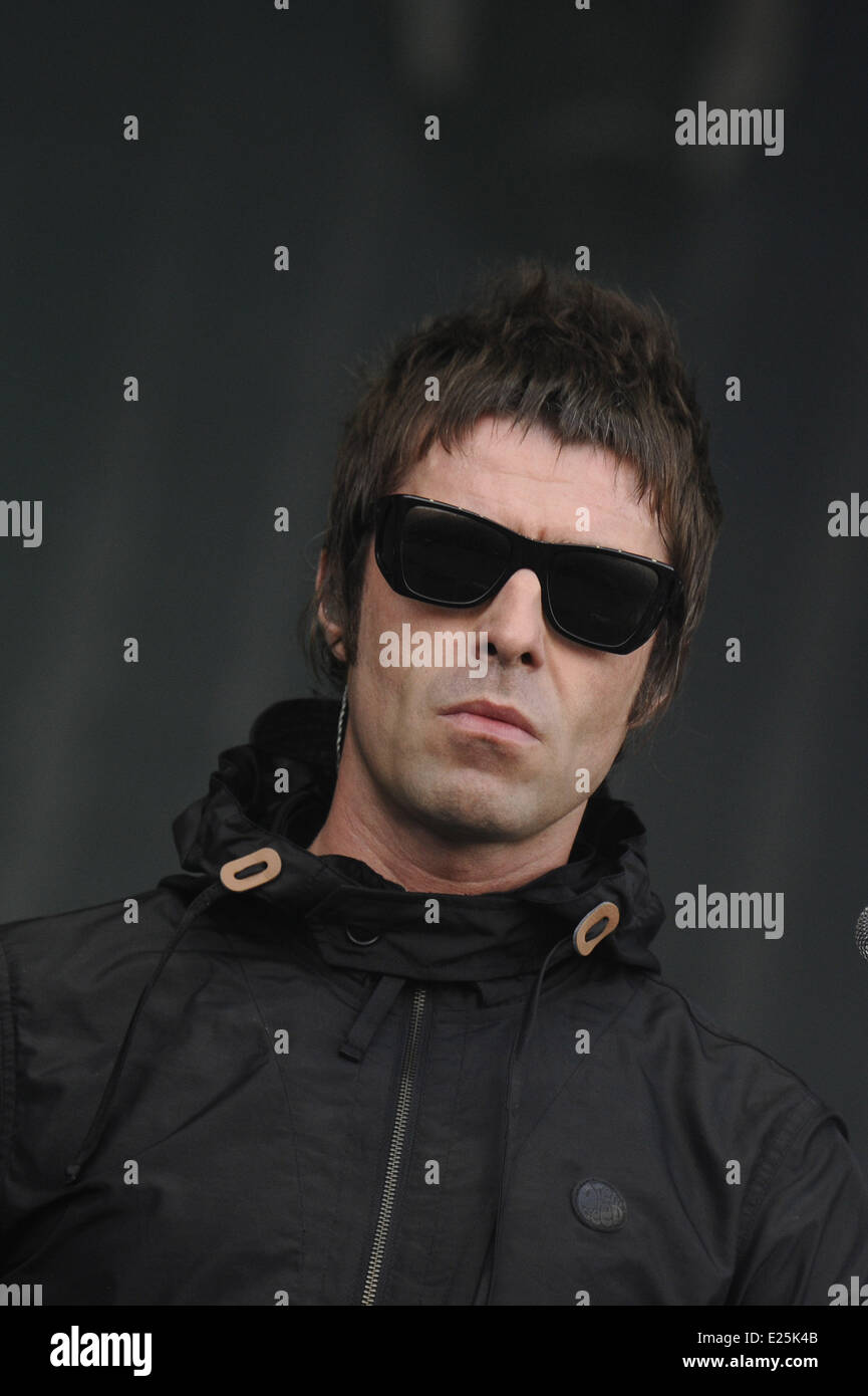 Liam Gallagher of Beady Eye performing at the 15th Solidays