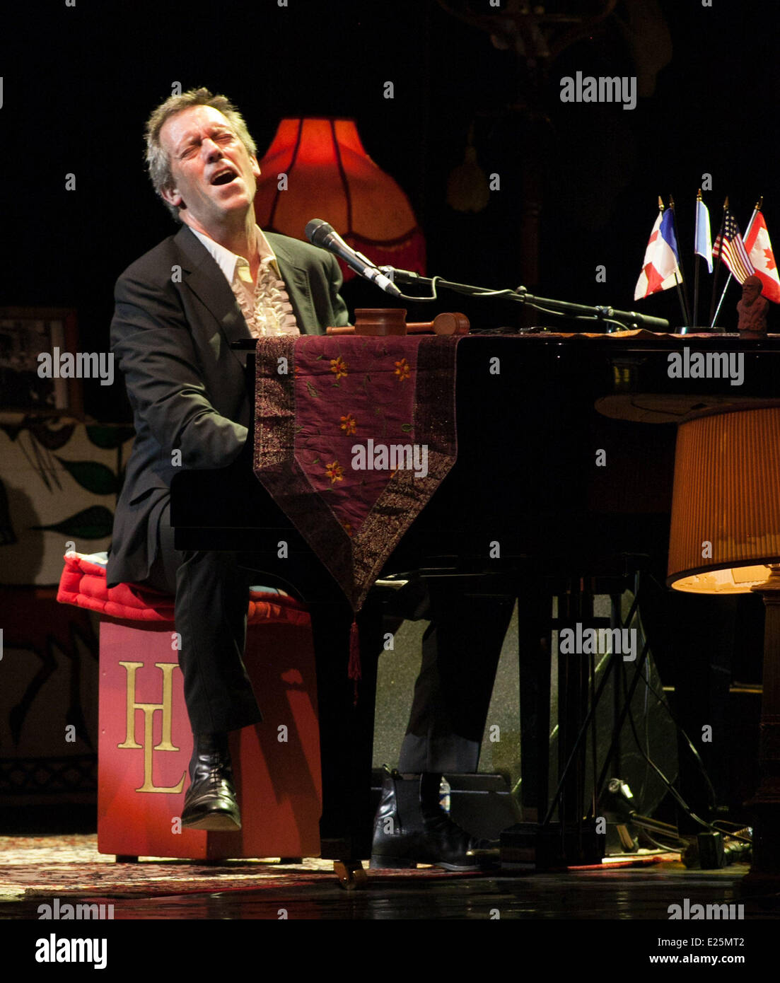 Hugh Laurie performing at the Grand Rex in Paris  Featuring: Hugh Laurie Where: Paris, France When: 09 Jul 2013 - Stock Image