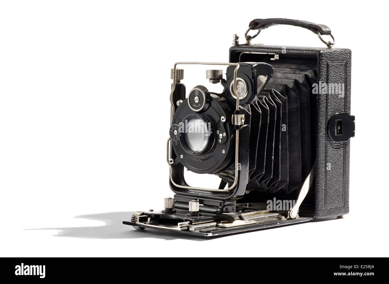 Old vintage bellows camera - Stock Image