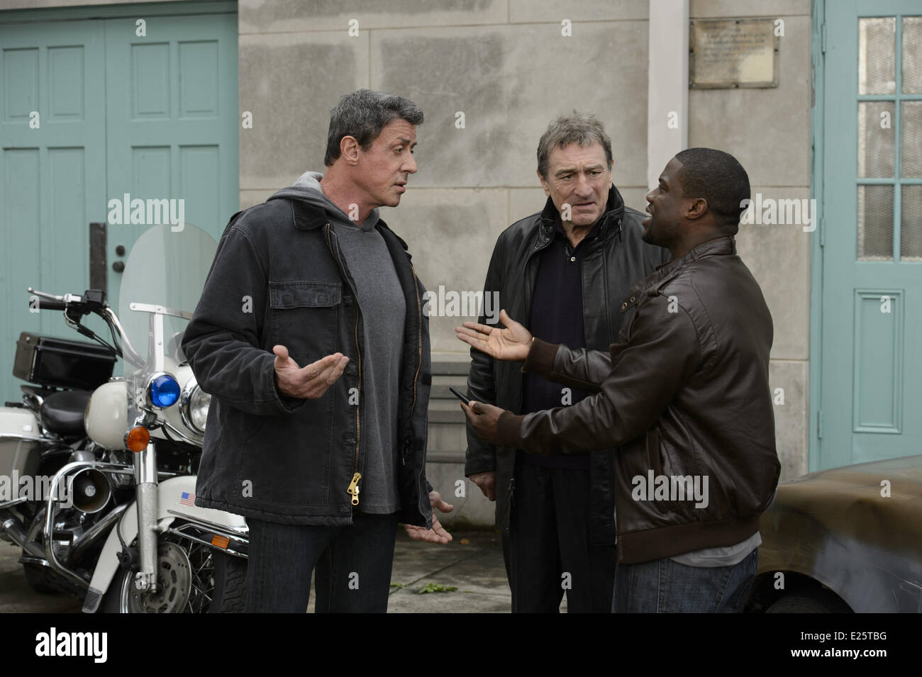Sylvester Stallone, Robert de Niro, Kevin Hart in the film GRUDGE MATCH  Where: United States When: 05 Feb 2013 - Stock Image