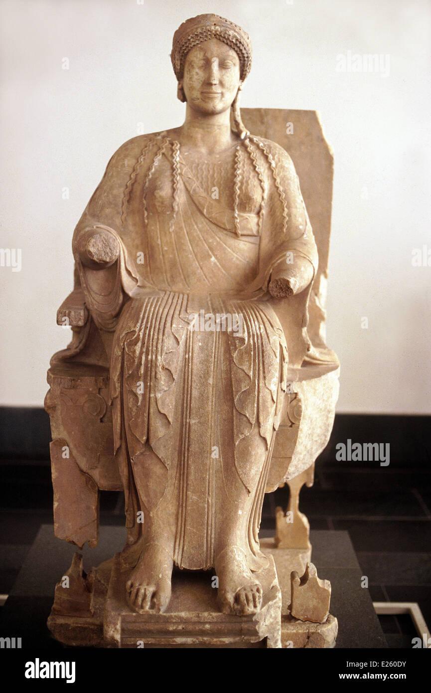 germany,berlin,pergamon museum,persephones from taranto,marble sculpture of 480-460 b.c.,greek art Stock Photo