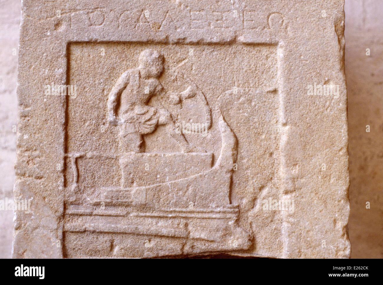 munich,glyptothek,greek art, relief Stock Photo