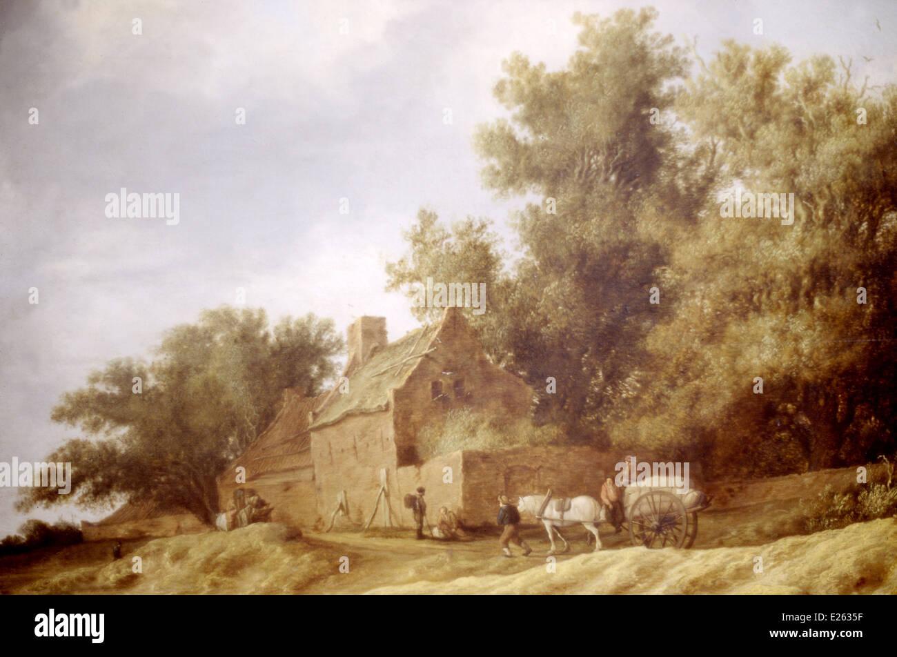 berlin,bode museum,salomon van ruysdael,a farm,1631 Stock Photo