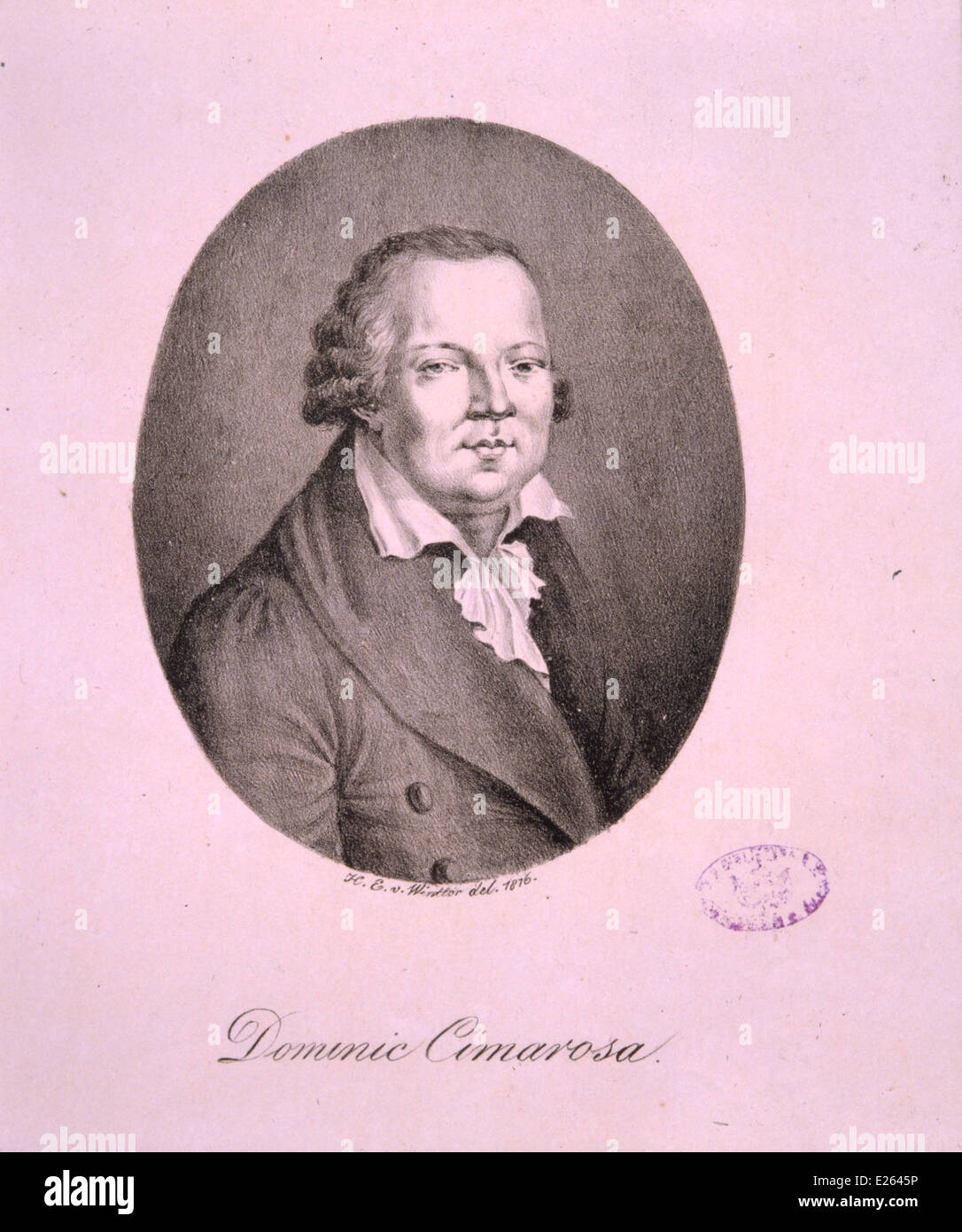 Domenico Cimarosa,lithography of Heinrich Eduard von Wintter,1816,National Academy of St Cecilia Stock Photo