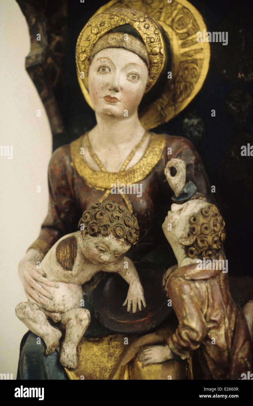German art,Maria,daughter of anna,1500,berlin,dahlem museum - Stock Image