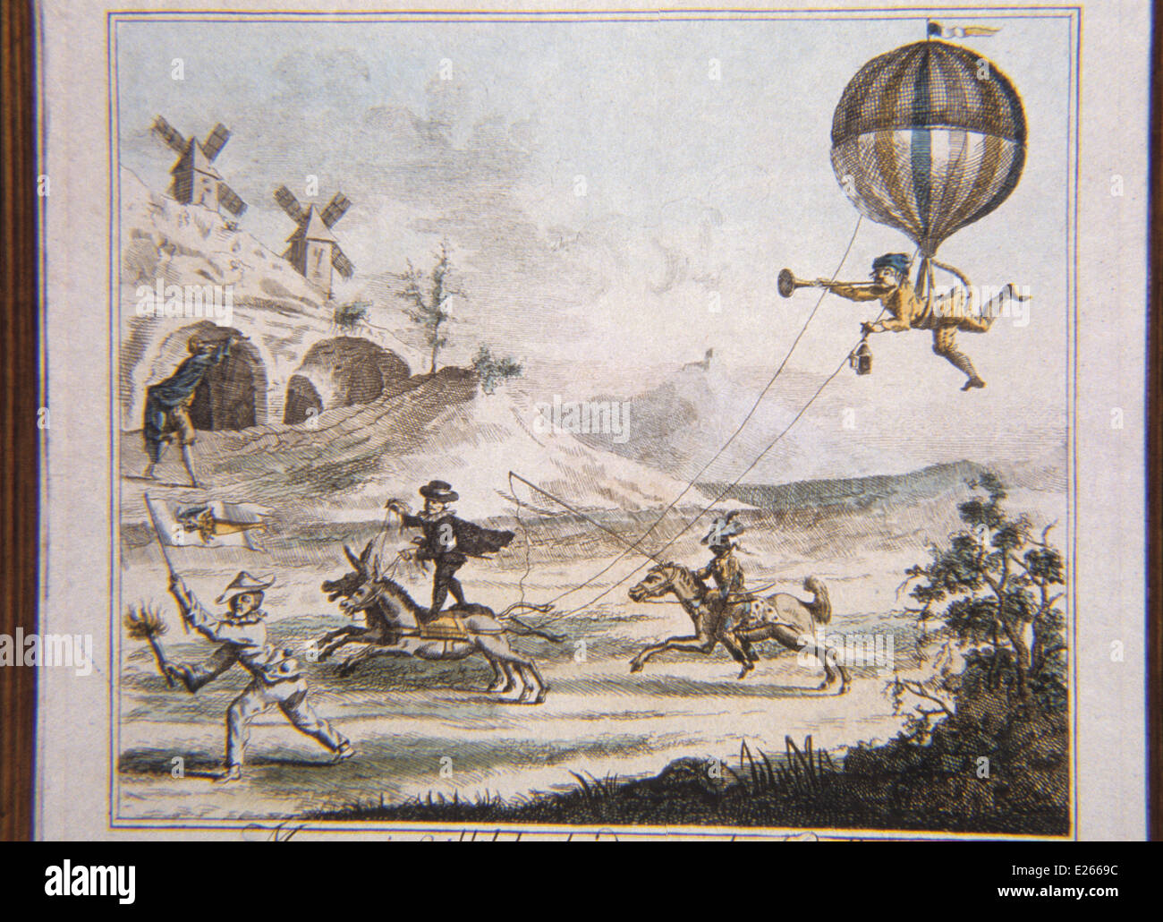 satirical lithograph of 18th century - Stock Image