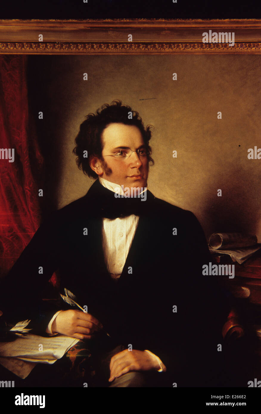 Franz Peter Schubert,painting oil - Stock Image