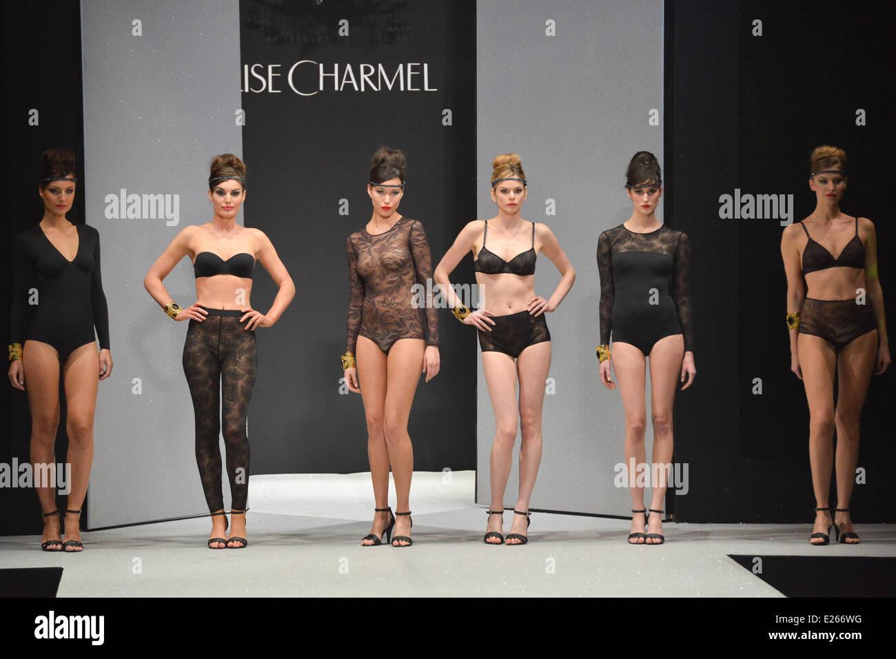 b607bbadb0 The Annual International Salon of Women's Lingerie - Lise Charmel - Catwalk  Featuring: Models Where: Paris, France When: 19 Jan 2013