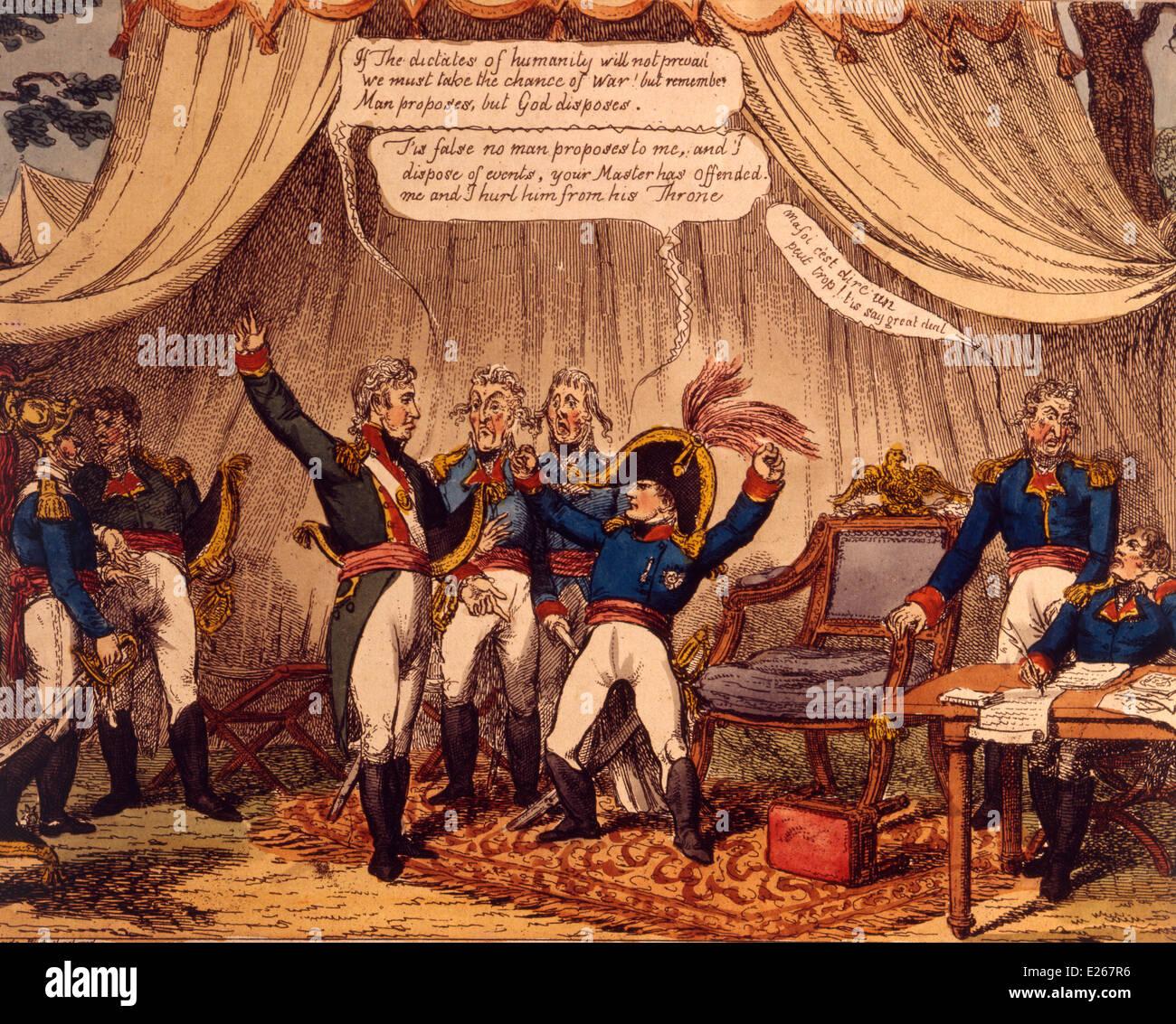 French history,English satirical print against Napoleon,Milan,Museum of the Risorgimento - Stock Image