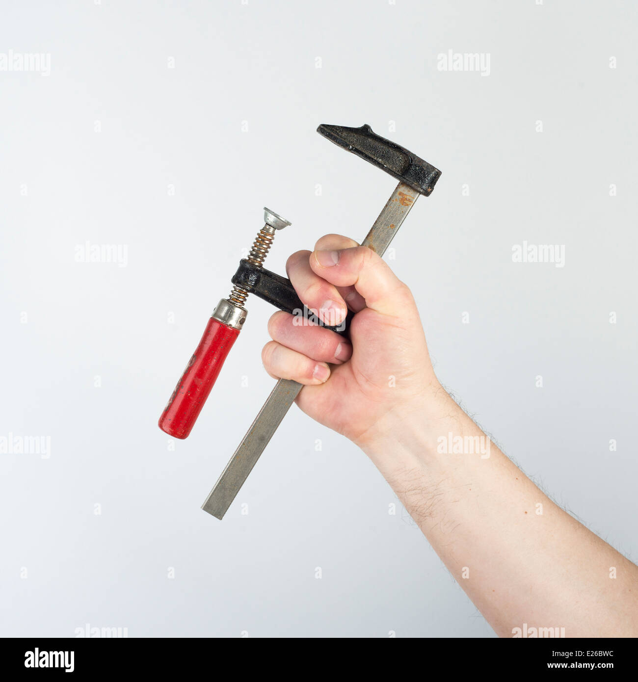 grip on hand - Stock Image