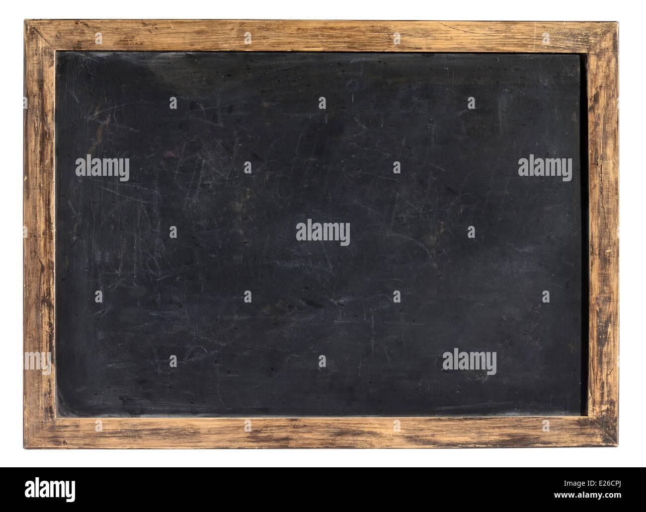 Vintage blackboard or school slate - Stock Image