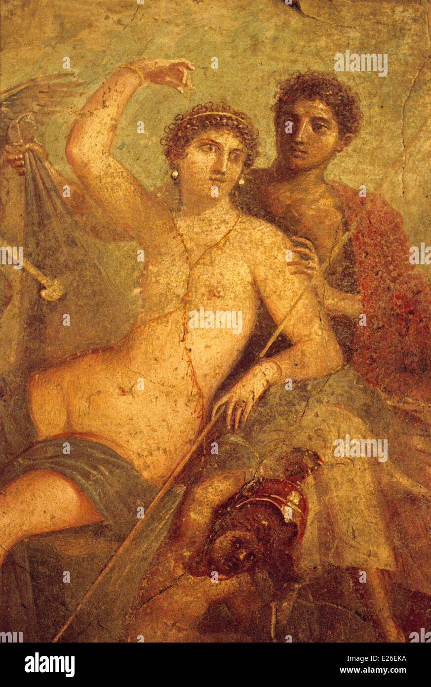 ancient art,Pompeii,Aphrodite and Ares,National Archaeological Museum,Naples - Stock Image