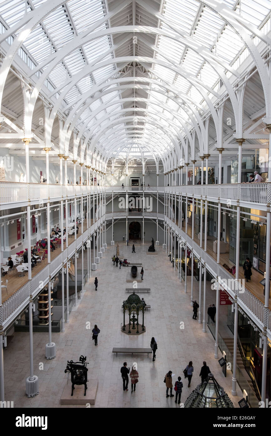 National Museum of Scotland, Edinburgh, Scotland - Stock Image
