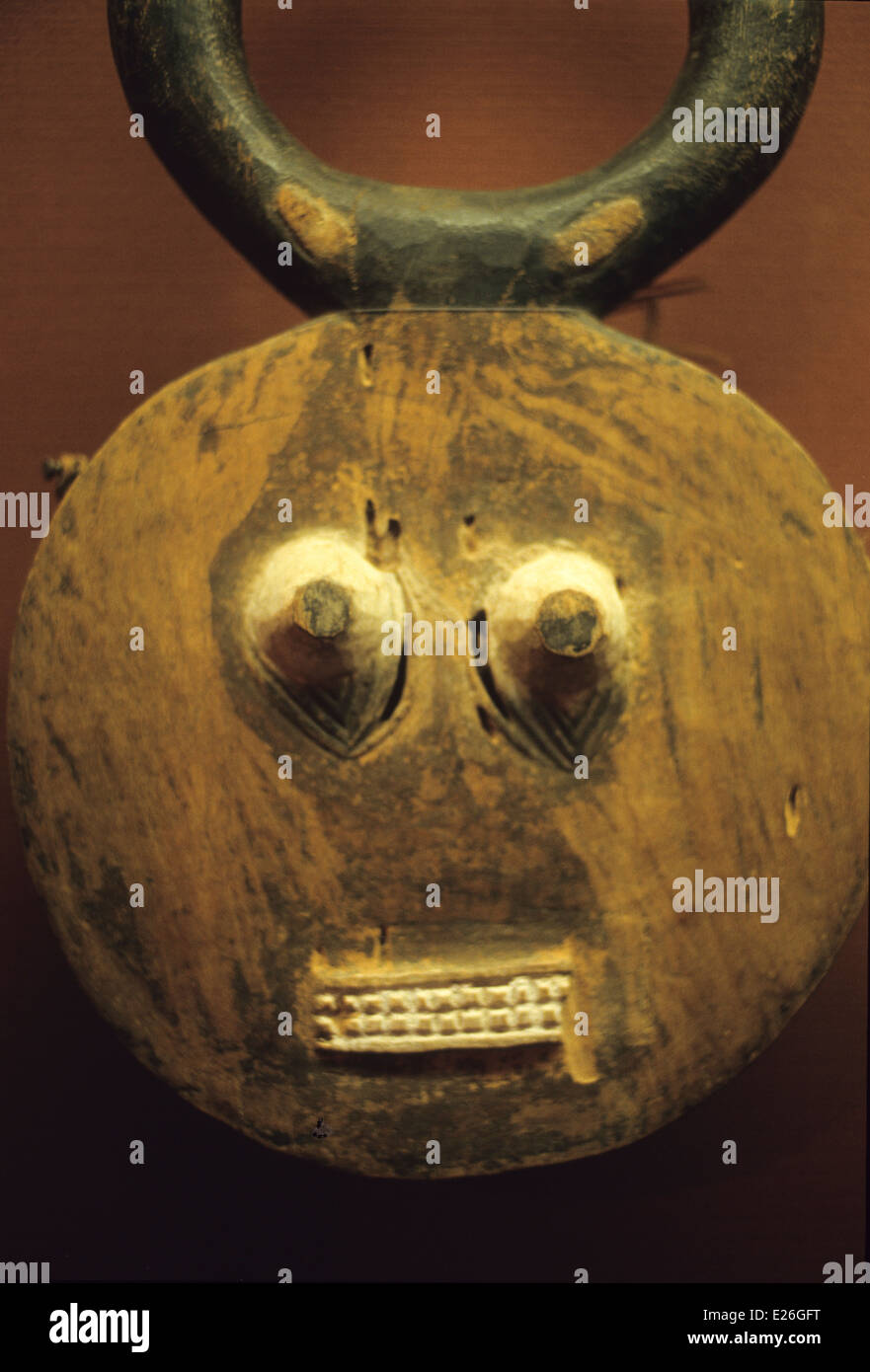 mask of the Ivory Coast,African and Oceanic Art Museum,Musée du quai Branly,Paris - Stock Image
