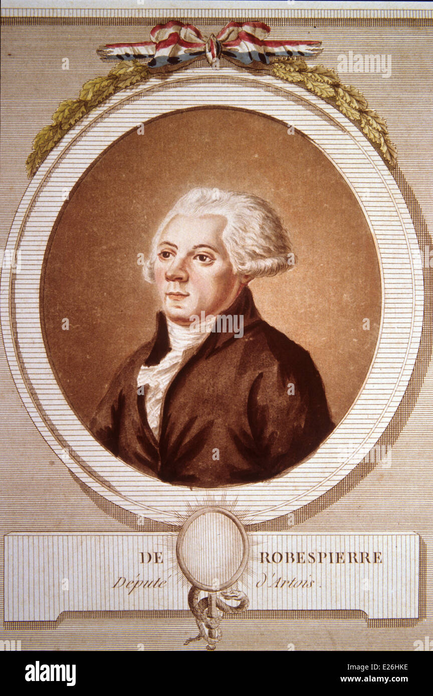 robespierre incision of 1789,Paris - Stock Image