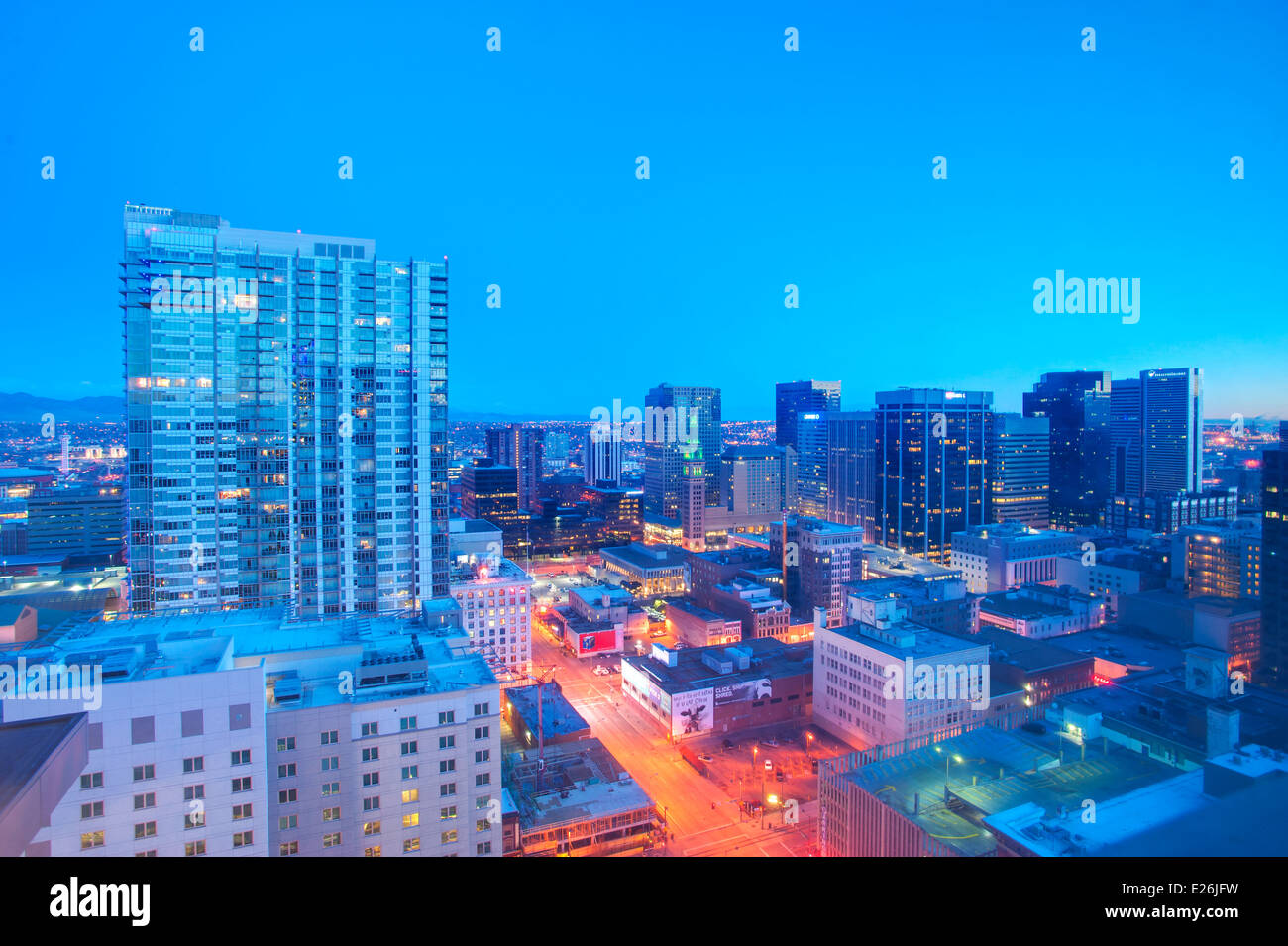 Skyline of Denver, CO - Stock Image