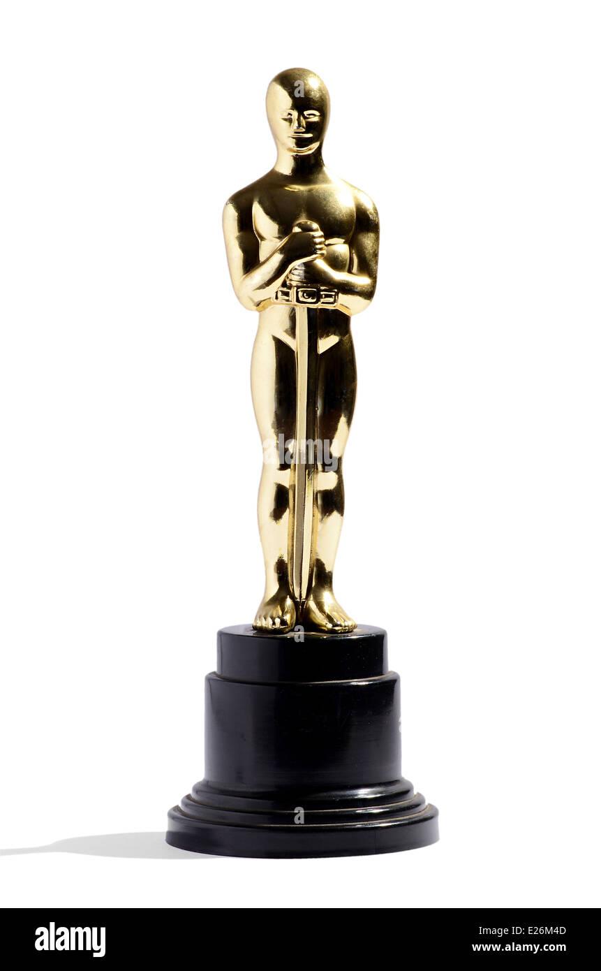 Replica of an Oscar award - Stock Image