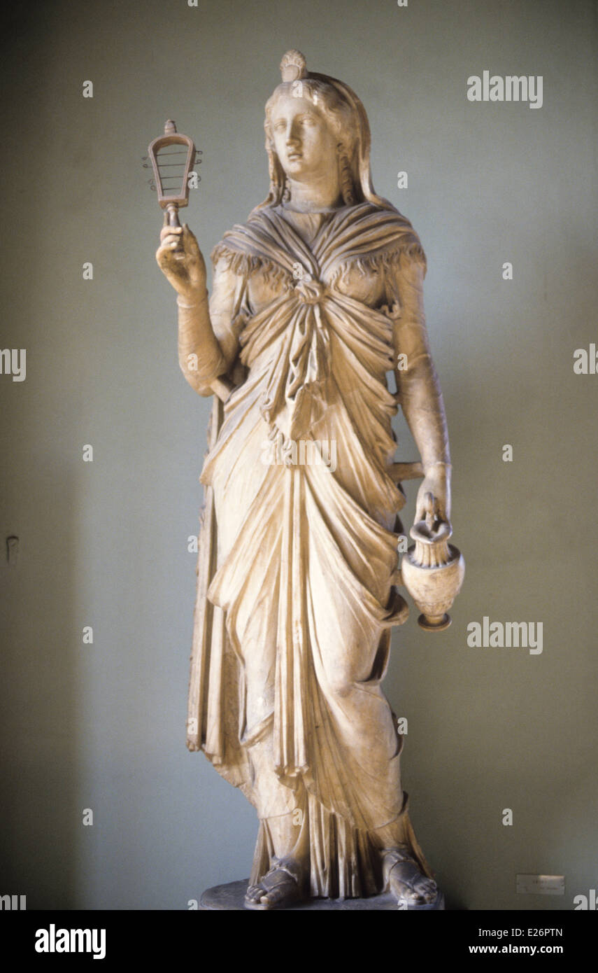 Roman history,Isis,Roman artwork of age 'Hadrian,Capitoline Museums,Rome Stock Photo