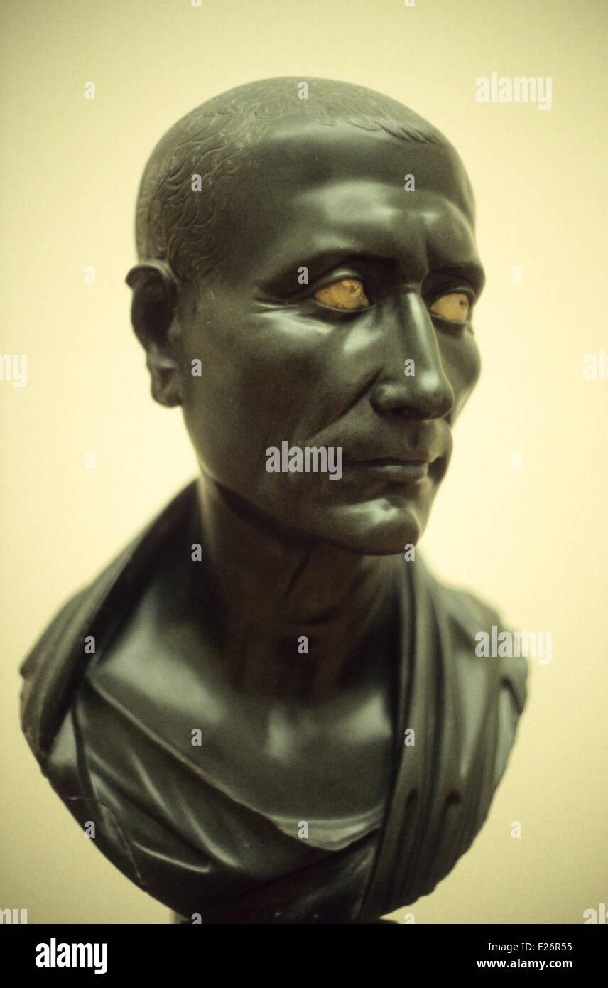 Roman history,Julius Caesar,1st century AD,Pergamon Museum,Berlin - Stock Image