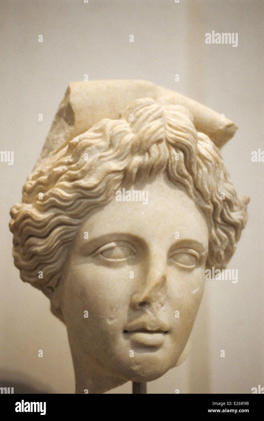 Greek art,Apollo,Roman copy of Apollo,Roman National Museum,Rome Stock Photo