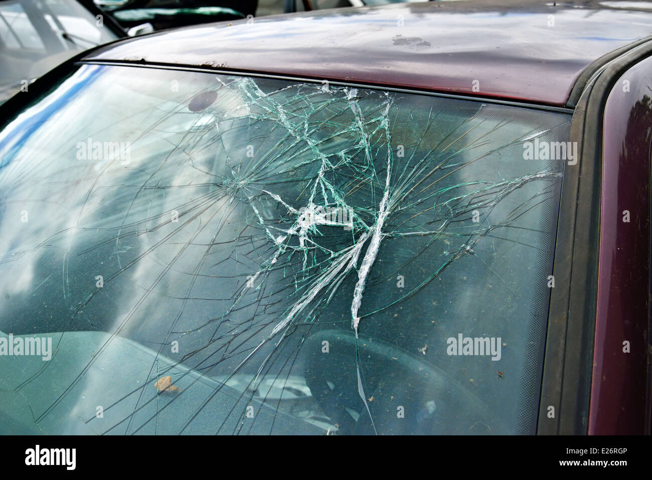 Windshield Broken High Resolution Stock Photography and Images - Alamy