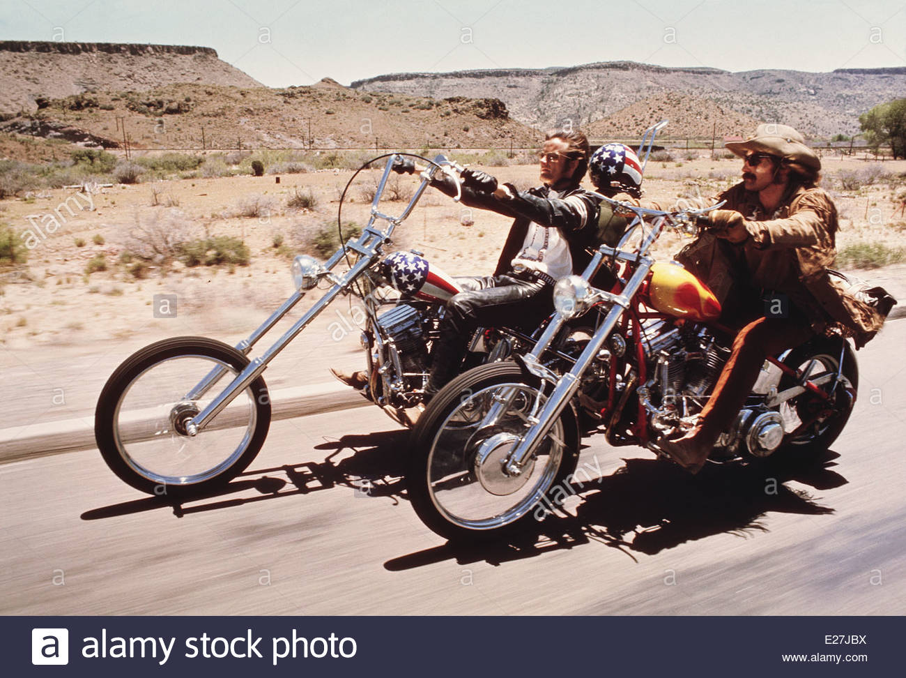 EASY RIDER,1969.  Written by Peter Fonda, Dennis Hopper, Terry Southern. Courtesy Granamour Weems Collection.Editorial - Stock Image